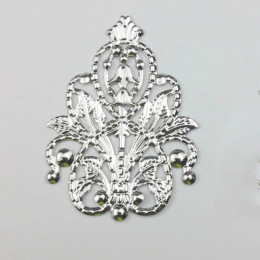 hm-2418. Декор, цвет серебро, 20 шт., 14 руб/шт