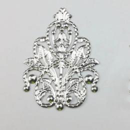 hm-2418. Декор, цвет серебро, 5 шт., 18 руб/шт