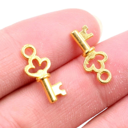 hm-2421. Подвеска Ключ, цвет золото. 200 шт., 4 руб/шт