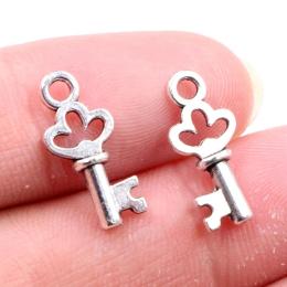 hm-2422. Подвеска Ключ, цвет серебро
