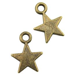 hm-2426. Подвеска Звезда, цвет бронза. 200 шт., 4 руб/шт