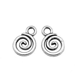 hm-2427. Подвеска Спираль, цвет серебро.