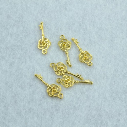 hm-2430. Ключ, цвет золото. 200 шт., 8 руб/шт