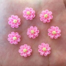 hm-2444. Кабошон Цветочек, цвет розовый. 5 шт., 10 руб/шт