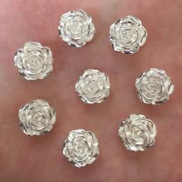 hm-2448. Кабошон Роза, цвет серебро. 10 шт., 8 руб/шт