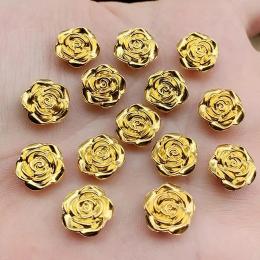 hm-2449. Кабошон Роза, цвет золото. 100 шт., 5 руб/шт