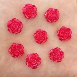 hm-2454. Кабошон Роза, цвет красный. 50 шт., 6 руб/шт