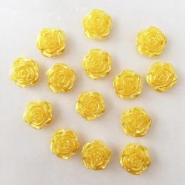 hm-2460. Кабошон Роза, цвет желтый. 10 шт., 8 руб/шт