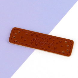 hm-2501.  Бирка Handmade, кожа. 200 шт., 6 руб./шт