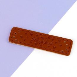 hm-2501.  Бирка Handmade, кожа. 50  шт., 8 руб./шт