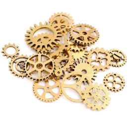 hm-2544. Шестеренки, цвет античное золото, микс 25 шт