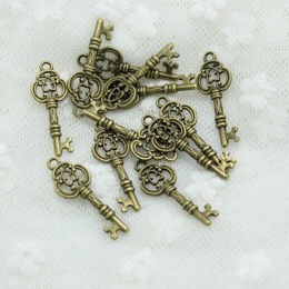 hm-383. Подвеска Ключ, состаренная бронза. 50 шт., 10 руб/шт