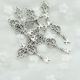 hm-385. Подвеска Ключ, цвет серебро. 50 шт., 10 руб/шт