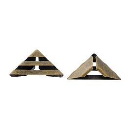 hm-485. Уголок для блокнотов, античная бронза. 100 шт., 4 руб/шт