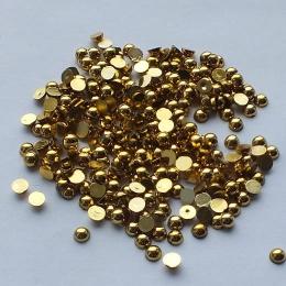 hm-587. Полубусины, золотистые, 500 шт, 0,5 руб/шт