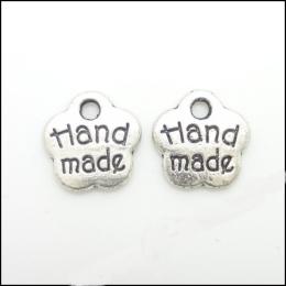 hm-77. Подвеска, цвет серебро. Handmade