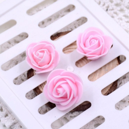 hm-936. Розочка из фоамирана, светло-розовая. 20 шт., 4 руб/шт