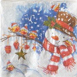 24043. Акварельный снеговик