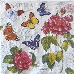 24142. Бабочки и розы . 10 шт., 8 руб/шт