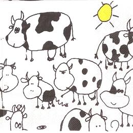 24179. Нарисованные коровы. 20 шт., 8 руб/шт