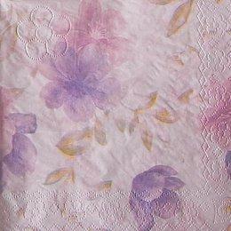 9852. Цветы на нежно-розовом. 15 шт., 6 руб/шт