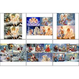 11560. Набор декупажных карт «Ангельское Рождество»