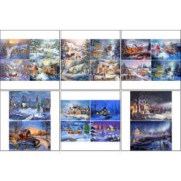 11562. Набор декупажных карт «Зимние пейзажи»