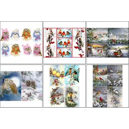 11566. Набор декупажных карт «Птицы зимой»
