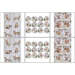 11574. Набор декупажных карт «Животные зимой»