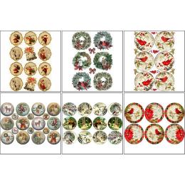 11578. Набор декупажных карт «Рождественские шары»