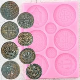 М-391. Молд морские монеты