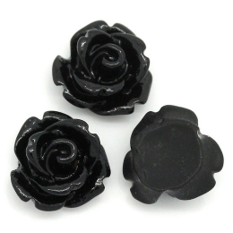 hm-1253. Кабошон Роза, цвет черный