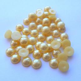 hm-1327. Полубусины, желтые, 100 шт., 2 руб/шт