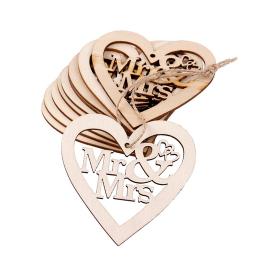 hm-1397. Сердце Mr&Mrs, дерево. 5 шт., 40 руб/ шт