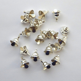 hm-1545. Колокольчики, цвет серебро. 100 шт., 3 руб/шт