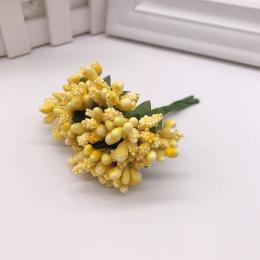 hm-1895. Букетик. 12 шт., цвет лимонный, 5 шт., 50 руб/шт