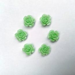 hm-2233. Кабошон Роза, зеленый. 20 шт., 10 руб/шт