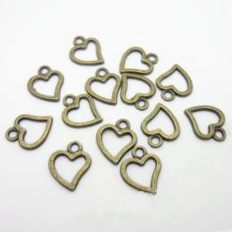 hm-2345. Подвеска Сердце, бронза. 100 шт., 2,5 руб/шт