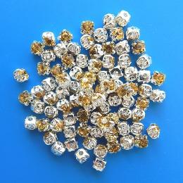 hm-354. Пришивной элемент, прозрачно-желтый. 100 шт., 0,9 руб/шт